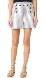 Zimmermann Zephyr Button Shorts Stripe