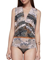 Bcbgeneration Pebble Stripe Printed Bodysuit Multi