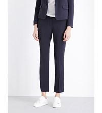Joseph Cady Ben Lambswool Skinny Mid Rise Trousers 308 Midnight Bl
