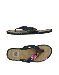 Gioseppo Toe Strap Sandals Dark Blue