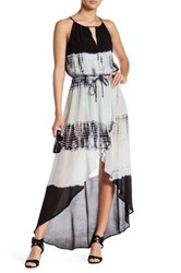 Gypsy 05 Open Back Tulip Maxi Dress Black