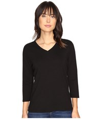 Pendleton 3 4 Sleeve Rib Tee Black Women's T Shirt