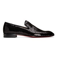 Christian Louboutin Black Scallops Dandelion Loafers