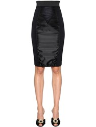Dolce And Gabbana Stretch Techno Satin Pencil Skirt