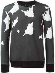Neil Barrett Fur Print Sweatshirt Grey