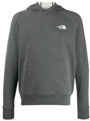 The North Face Logo Print Hoodie Grey