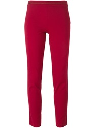 Emporio Armani Cropped Slim Trousers Red