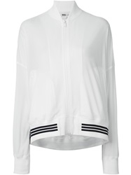 Y 3 Striped Hem Track Jacket White