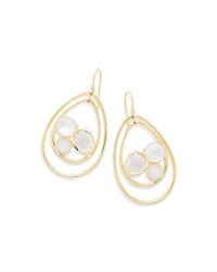 Ippolita 18K Rock Candy Pear Shaped Wire Earrings In Antique White