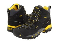 Keen Utility Pittsburgh Boot Black Yellow Work Boots Gray
