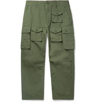 Engineered Garments Cotton Ripstop Cargo Trousers Green