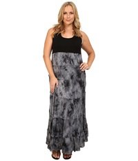 Karen Kane Plus Plus Size Tie Dye Print Maxi Dress Print Women's Dress Multi