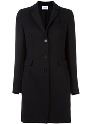 Akris Punto Single Breasted Coat Black