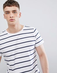 Lee Jeans Striped T Shirt White