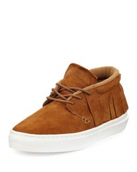 Clear Weather One O One Suede Mid Top Moccasin Sneaker Brown