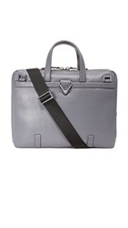 Z Zegna Pixel Slim Business Bag Grey
