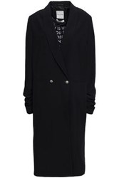 Each X Other Woman Double Breasted Crepe Coat Black