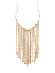 Catherine Malandrino Bohemian Metals Fringed Necklace Gold