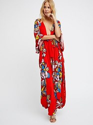 Free People Lei'd In Hawaii Printed Kaftan By