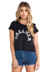 Rebel Yell Dreamer Crop Tee Black