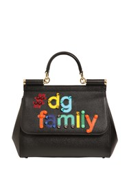 Dolce And Gabbana Medium Sicily Dg Family Leather Bag