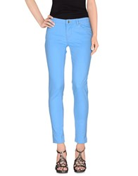 Pt0w Denim Denim Trousers Women Azure