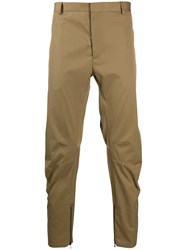 Lanvin Zipped Cropped Trousers Brown