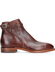 R M Williams Stockmans Leather Buckle Boot Wine