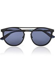 Calvin Klein Collection Round Metal Men's Sunglasses Black