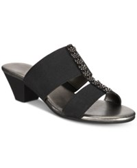 Karen Scott Zaila Slip On Sandals Black
