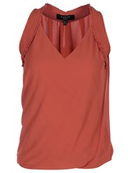 Yanny London Sleeveless Twist Top Burnt Orange