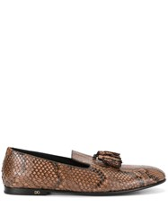 Dolce And Gabbana Slippers Brown