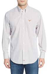 Men's Thomas Dean 'Texas Longhorn' Regular Fit Long Sleeve Tattersall Sport Shirt