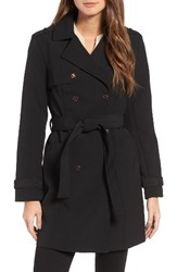 Kenneth Cole Women's New York Belted Trench Coat Black