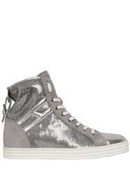 Hogan Rebel 50Mm Sequined Suede Sneakers