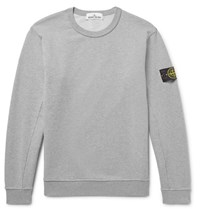 Stone Island Loopback Cotton Jersey Sweatshirt Gray