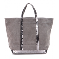 Vanessa Bruno Cabas Medium Suede Shopper Elephant