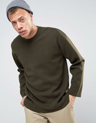 Weekday Framing Sweater 19126 Khaki Green