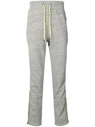 Frankie Morello Contrast Zip Detail Sweat Pants Grey