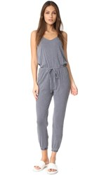 Sundry Drawstring Jumpsuit Charcoal Pigment