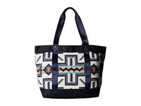 Pendleton Large Zip Canvas Tote Pueblo Cross Tote Handbags Multi