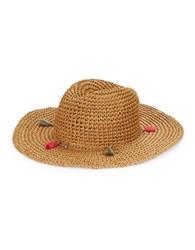 Echo Tassel Accented Woven Paper Hat Natural