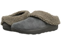Fitflop Loaff Snug Slipper Charcoal Women's Slippers Gray