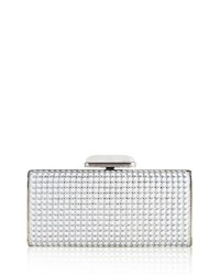 Judith Leiber Soft Sided Rectangle Clutch With Enamel Dots Gold Black