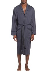 Men's Daniel Buchler Peruvian Pima Cotton Robe Ink