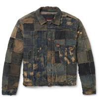 Kapital Boro Slim Fit Patchwork Denim Jacket Indigo