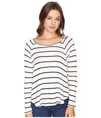 Billabong Wound Up Thermal Top Black White Women's Clothing
