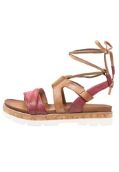 Mjus Sunrise Platform Sandals Red