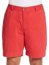 Tailorbyrd Bryan Garment Dyed Cotton Shorts Cardinal Red