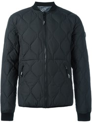 Kenzo Quilted Bomber Jacket Black